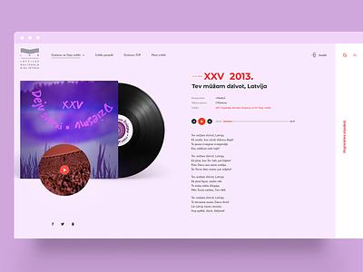 Song And Dance Celebration concept website layout minimal concept music sketch app ui ui  ux webdesign design