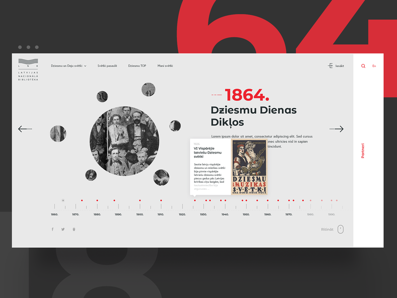 Timeline of Song And Dance Celebration web layout typogaphy timeline sketchapp minimal design webdesign uidesign ux ui concept