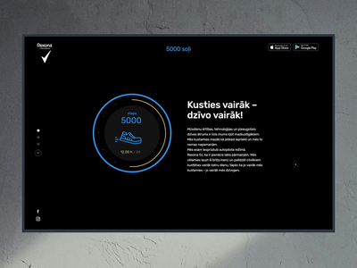 Rexona 5000 steps design ui web ux layout website typography app  design animation sketch simple steps fitness