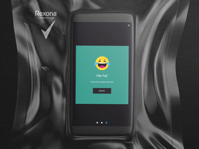 Rexona 5000 Steps App Emoji Reaction sport rexona reaction emoji 2d vector webdesign gif illustration design illustrator layout ux ui