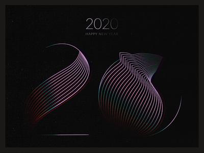 Year of the Rat dark gradient 2020 minimalism new year graphic rat icon illustrator typography vector design 2d illustration