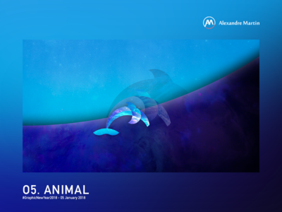 Into the sea graphic new year golden circle photoshop illustrator illustration sea ocean dolphin