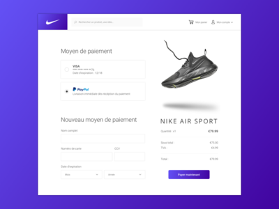 Daily UI Challenge #002 - Credit Card Checkout sketchapp sketch sport shoes checkout card credit desktop dailyuichallenge challenge 002 dailyui