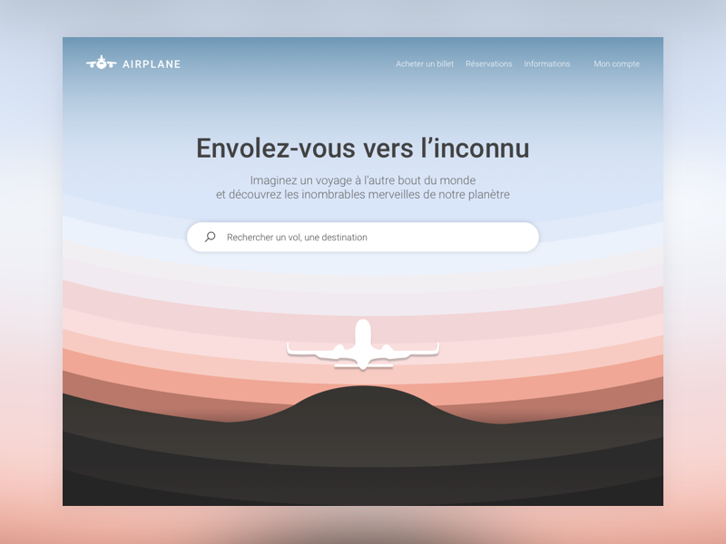 Daily UI Challenge #003 - Landing Page design ui photoshop travel illustration sketchapp landingpage uidesign dailyuichallenge desktop 003 dailyui