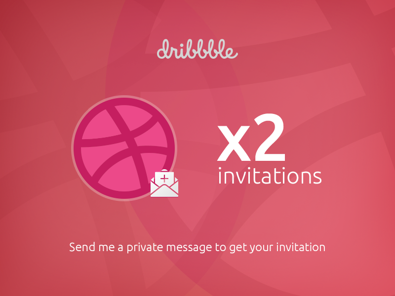 2 Dribbble invitations message private ux ui dribbble invitations