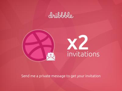 2 Dribbble invitations message private ux ui dribbble invitations