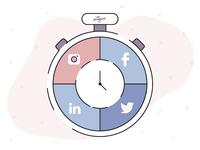 Social media stopwatch