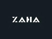 zaha logo concept concept geometric logo geometric minimal design clean branding logo vector simple