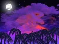 Volcanic night