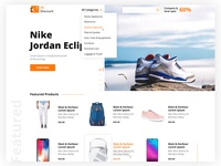 Ecommerce website landing page