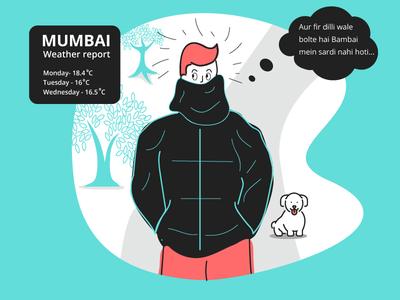 Winter in mumbai