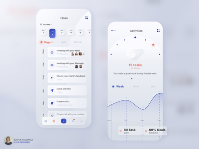Task manager app concept neomorphism sketch clean design appdesign clean beauty app minimalist simple ux design ui