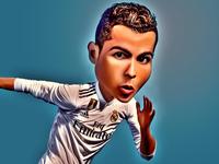 Caricature of Ronaldo