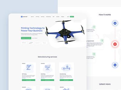 Summer Eden 3D Printing Main Page product web web design dribbble 3d illustration visualization design ux ui