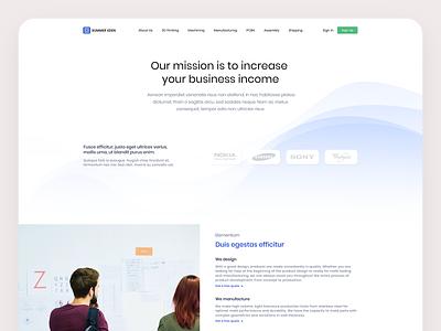 Summer Eden 3D Printing About Page product web web design dribbble 3d illustration visualization design ux ui