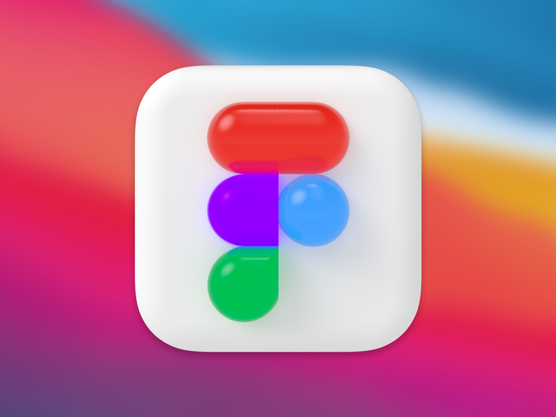 macOS Big Sur Figma Icon skeumorphism macbook app icon branding new product design visualization vector logo 3d big sur figma figma icon macos