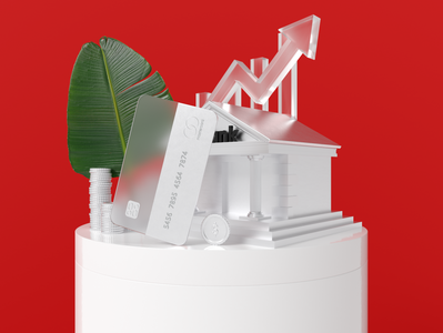 Banking 3D visualization bank data product web dribbble 3d illustration visualization ux design ui