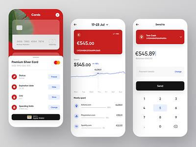 Mobile Banking App typography illustration branding bankingapp bank app bank app product visualization ux design ui