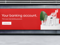 Banking Account Billboard banking website bank product banking dashboard bank card banking app banking branding dribbble 3d illustration visualization ui