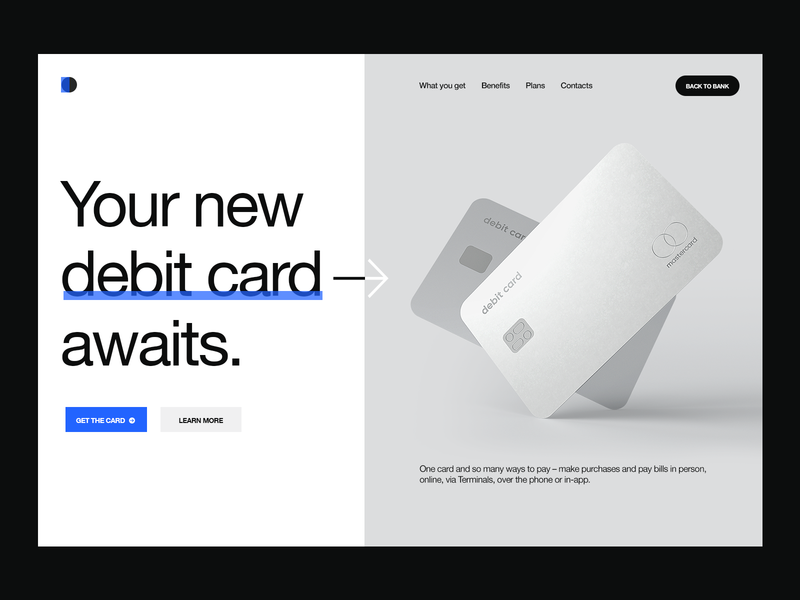 Debit Card Promo Page debit debit card wallet ui wallet credit cards credit card card banking app bank card banking bank dribbble 3d product visualization ux design ui