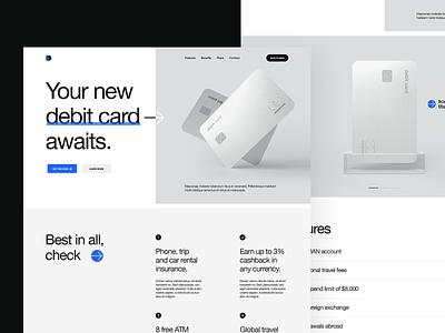 Debit Card Promo Page bank banking bank card banking app card credit card credit cards wallet ui wallet debit card debit product 3d visualization ux design ui