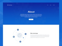 About Page Design of Marketing Website
