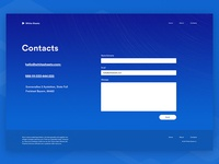 Contacts Page Design of Marketing Website