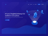 New Website Design for Cryptocurrency Wallets