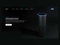 Amazon Echo 3d Render and Website Design Experiment