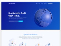 Time Protocol Blockchain Landing Page Design
