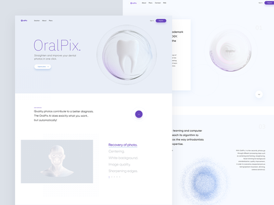 Oralpix - Straighten and imrove your dental photos web design web dribbble isometric 3d illustration visualization design ux ui