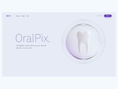 Oralpix - Straighten and imrove your dental photos product web design dribbble isometric 3d illustration visualization design ux ui