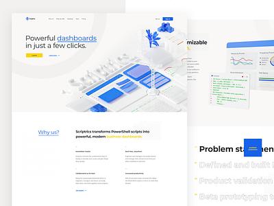 Scriptrics web design web dribbble isometric 3d illustration visualization design ux ui