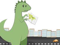A 404 Page Dinosaur