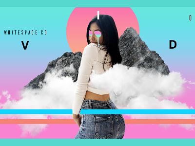 Covid - White Space feat. Shelina abstract ui design photo manipulation graphic design contemporary web design minimal clean design modern design poster design modern