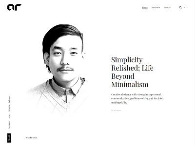 Personal Website personal website web design clean design minimal website
