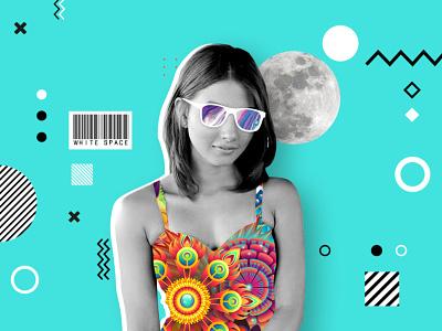 Colorless Colors #WhiteSpaceNepal ui web design minimal graphic photo manipulation webdesign contemporary graphic design