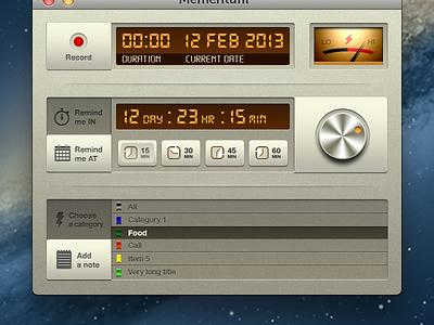 OSX app concept  mac osx app timer