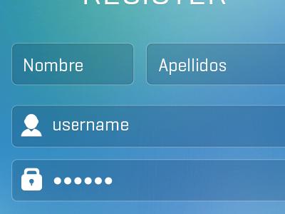 register screen
