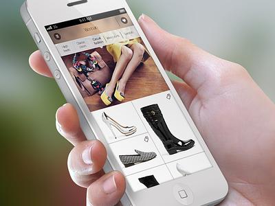 main screen flat fashion catalog app shoes woman