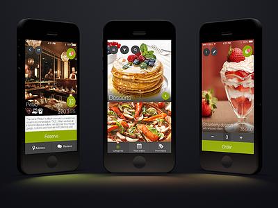 Food ordering app ios 7 app delivery restaurant order details food dessert item
