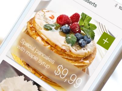 Items list menu items list transparent frozen glass tasty ios7 app