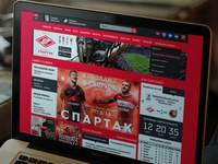 FC Spartak main page redesign