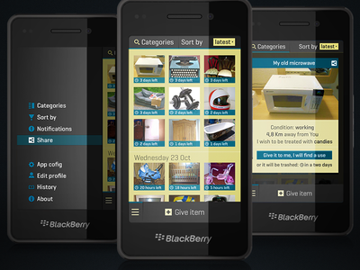 app for BB hackaton contest blackberry app give bb10 os10