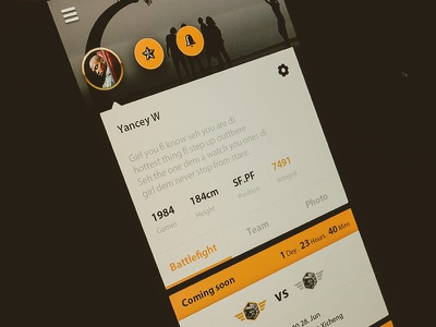 Proflie ui ue feed ugc message setting photo background game comingsoon