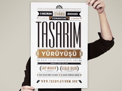 Poster for the design walk in İstanbul poster typography