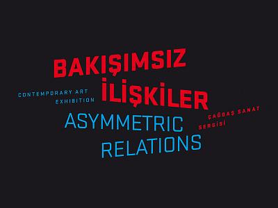 Asymmetric Relations logo typography