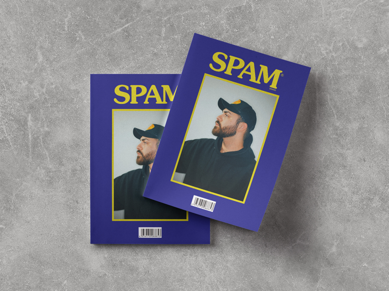 Spam Brand Magazine branding design spam magazine type mockup