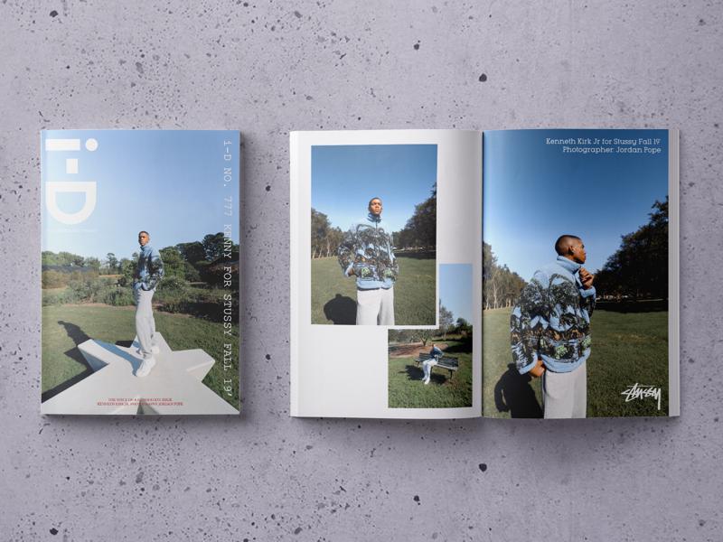 i-D Magazine Mockup type stussy design magazine mockup