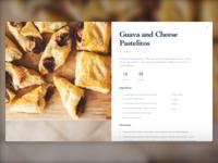 Daily UI – Recipe